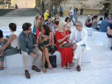 Giorgio Linguaglossa Duska Vrhovac, Steven Grieco e Rita Mellace Roma giugno 2015, Isola Tiberina