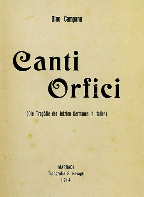 canti orfici