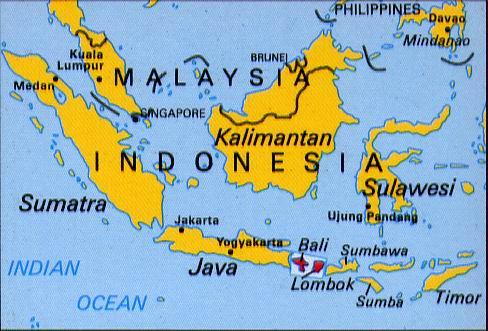 foto Bali cartina geografica