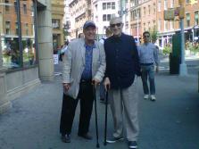 Alfredo De Palchi con Gerard Malanga New York 2014