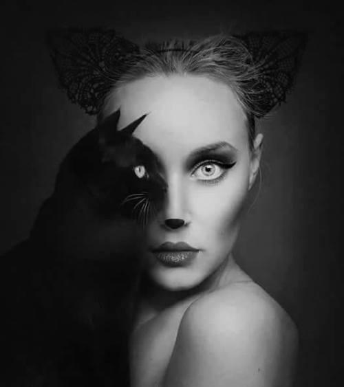 foto volto con gatto