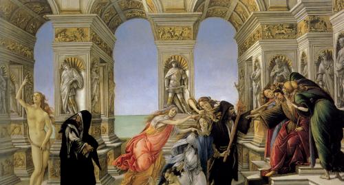 Pittura Botticelli Allegoria dell'invidia