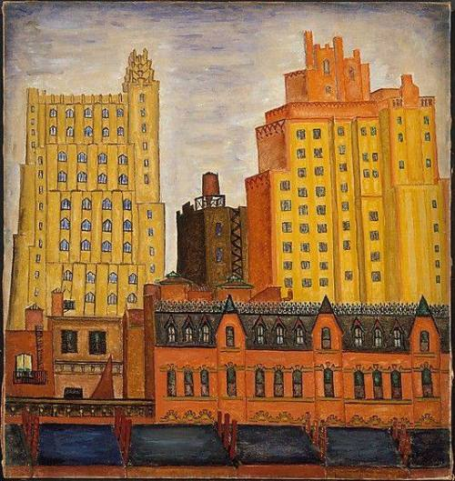 pittura Mark Baum (American, 1903–1997). Seventh Avenue and 16th Street, New York, 1932. The Metropolitan Museum of Art, New York. Edith C. Blum Fund, 1983
