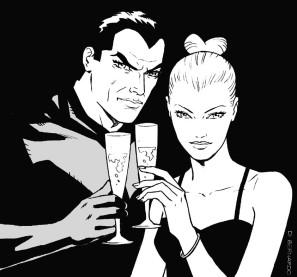Fumetto design Diabolik ed Eva Kant
