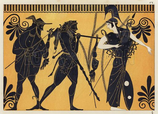 teseo Greek Pottery Art Hercules Of greek vase painting