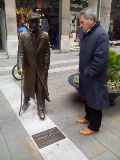 Gino Rago con Umberto Saba