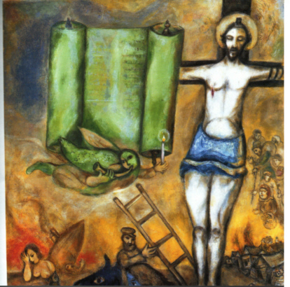 pittura-chagall-crocifissione-bianca-1938