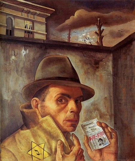 shoah-felix-nussbaum-autoritratto-con-carta-didentita-1943