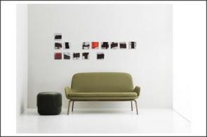Lucio Mayoor Tosi composizione con divano bianco