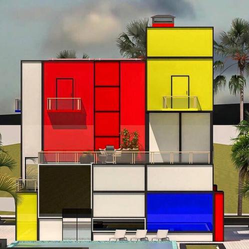 foto Mondrian Design Movement Mondrian House