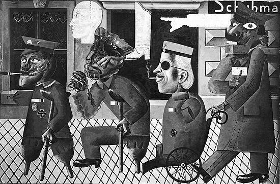 espressionismo Otto Dix, I mutilati di guerra, 1920