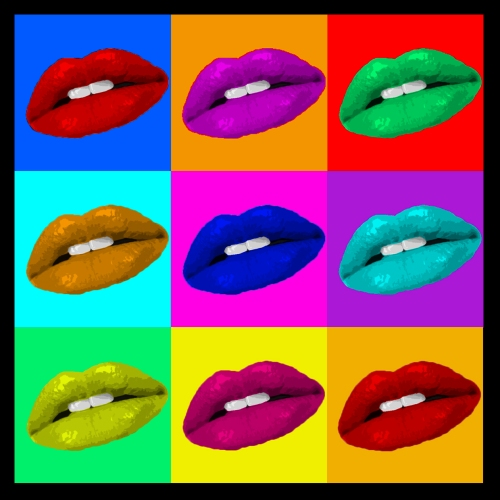 foto Andy warhol paintings lips