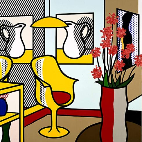 foto roy lichtenstein interior with yellow chair