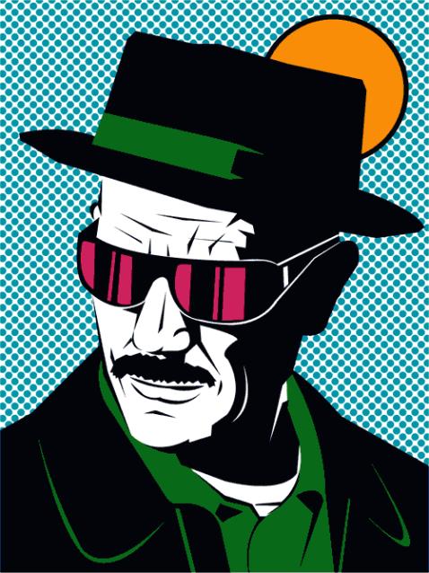 Gif Heisenberg from Breaking Bad in pop art