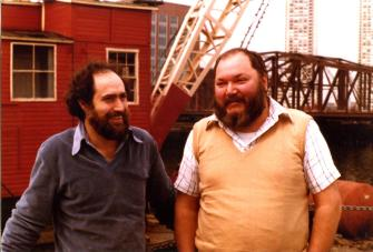 Luigi Fontanella e Adriano Spatola anni settanta
