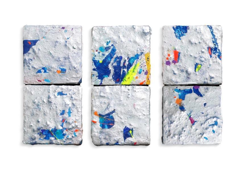 Lucio Mayoor Tosi toys composizione di tre doppi frammenti
