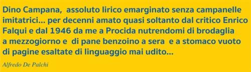 Strilli De Palchi Dino Campana assoluto lirico