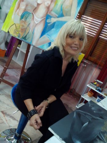 Silvana Palazzo nel suo studio