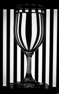 Foto Bicchiere a strisce