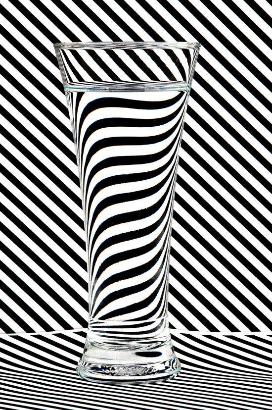 Foto Bicchiere con strisce