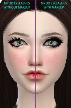 Foto eyeslashes with makeup