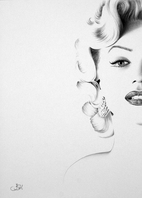 Foto profil Marilyn bianco e nero