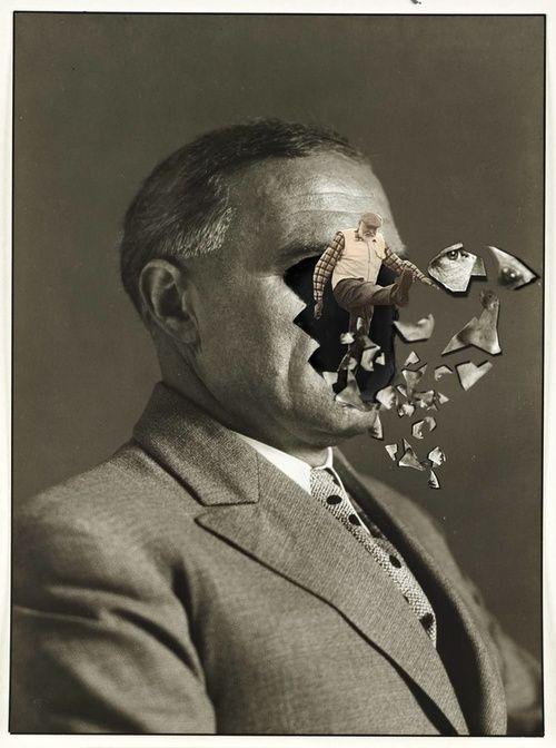 Foto uomo collage