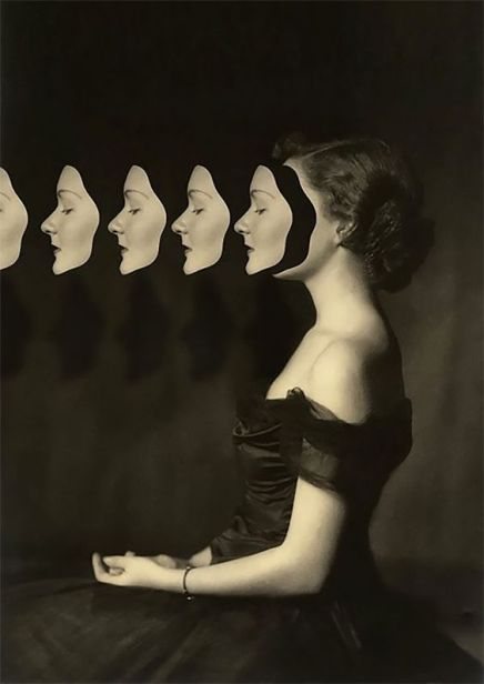 Foto volto multiplied