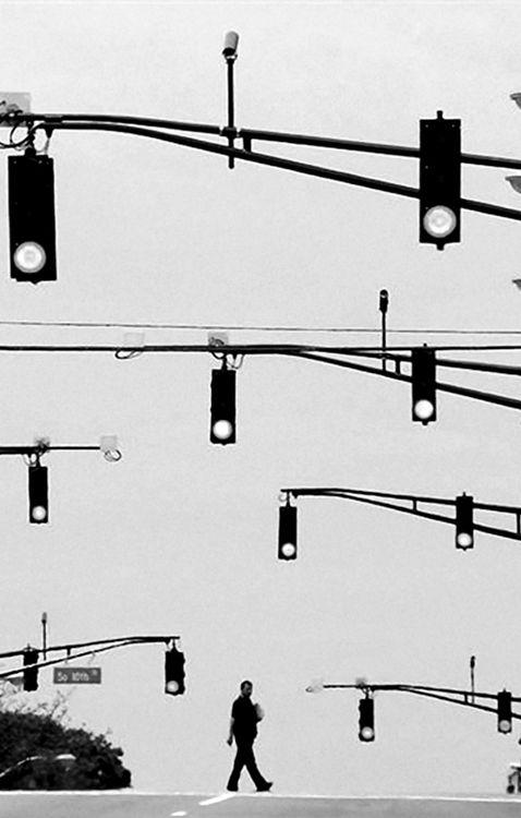 Foto semafori sospesi