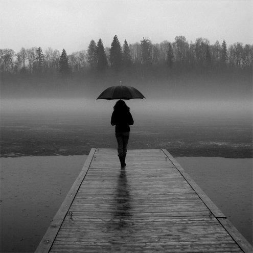 foto donna con ombrello