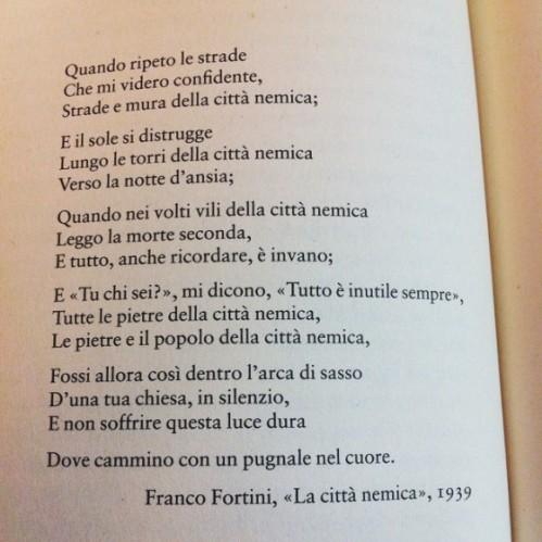 Franco Fortini La città nemica, 1939