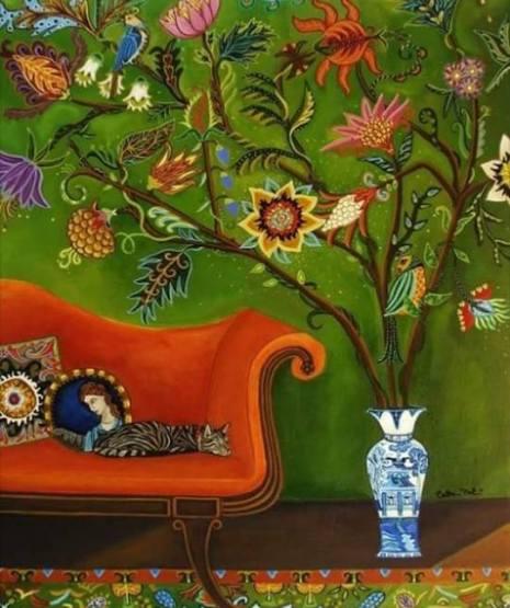 Foto divano albero vaso cinese