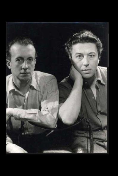 Foto Man Ray André Breton et Paul Eluard 1950