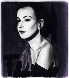 Cristina Campo Portraits for the Sunday supplement of Il Sole 24 Ore