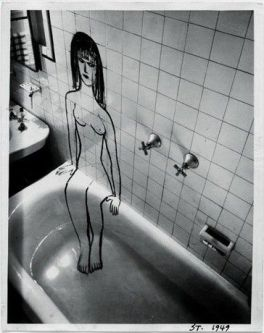 Foto Saul Steinberg Lady in bath 1