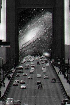 Foto strada galaxy