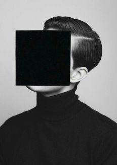 Foto con quadrato nero