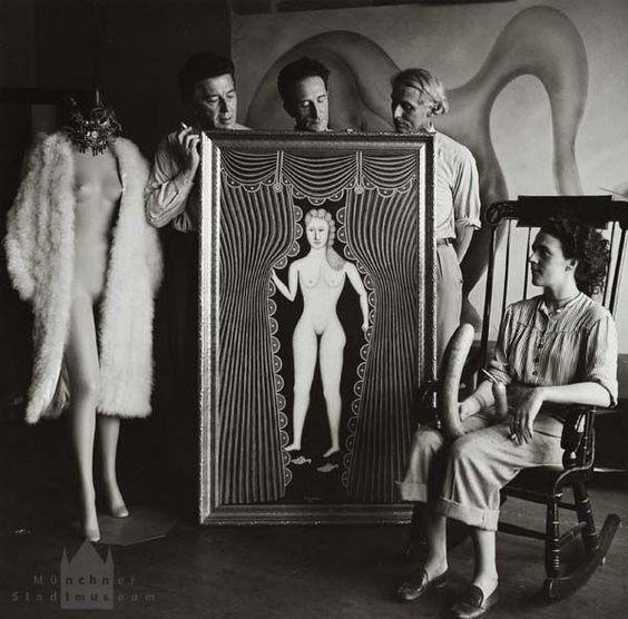 foto Breton, Max Ernst, Duchamp, Leonora Carrington 1942