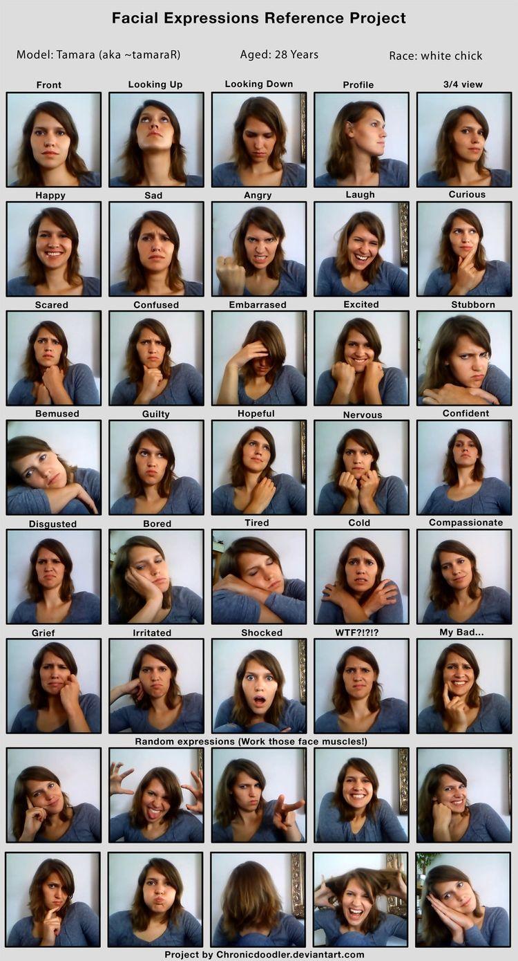 Foto selfie facials expressions