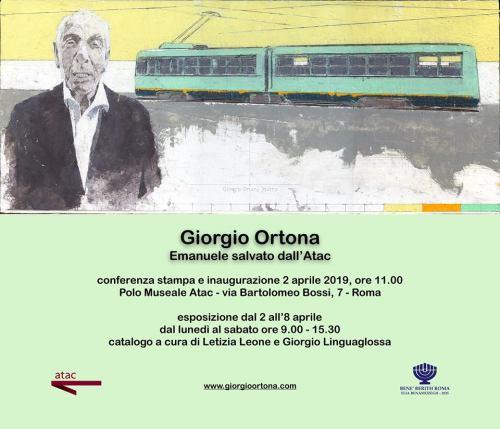 Giorgio Ortona Invito Mostra