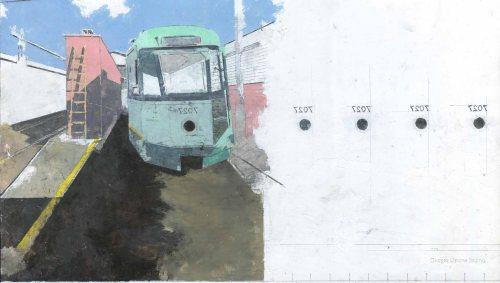 Giorgio Ortona 7027, 2019, olio su tela, 30 x 54 cm