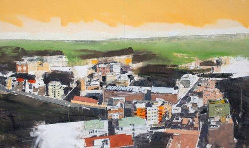 Giorgio Ortona Nuova mappa della metropolitana I, 2010, olio su tavola, 68 x 114 cm
