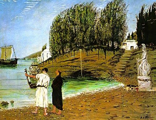giorgio-de-chirico-La partenza degli argonauti