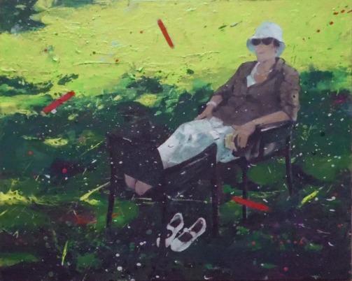 Lucio Mayoor Tosi Covid Garden 3 acrilico, 50x70 cm, 2020