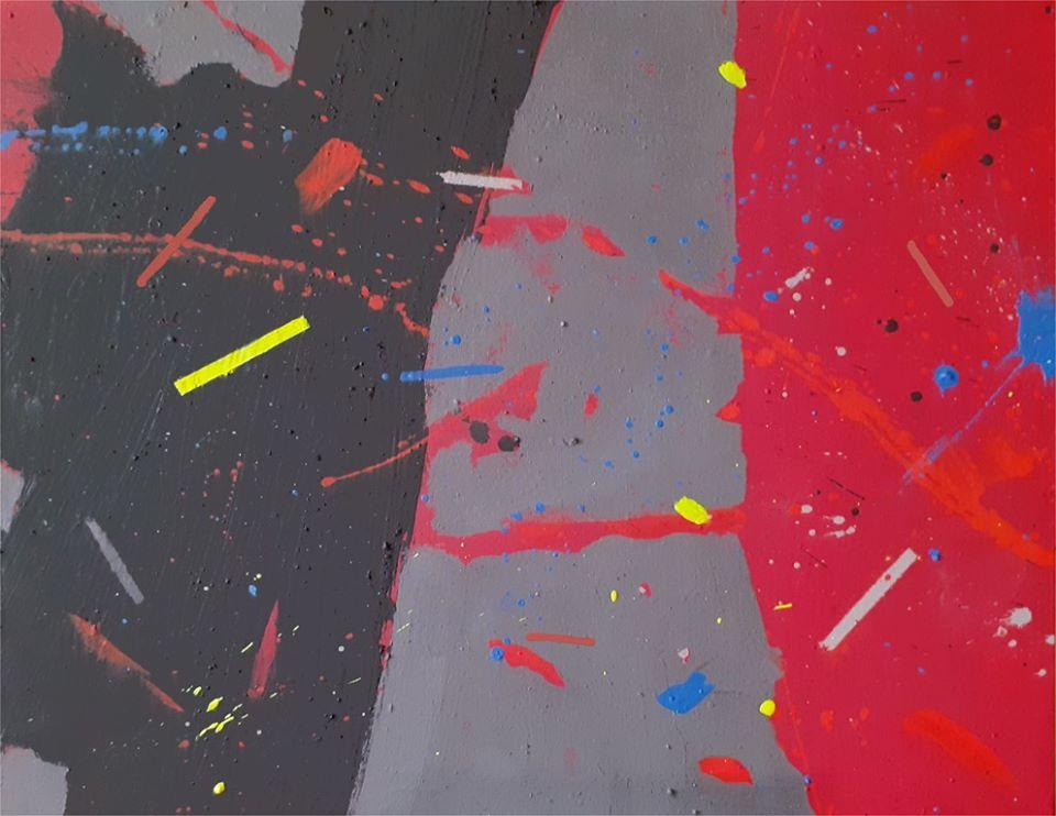 Lucio Mayoor Tosi Covid Garden Blues 40x50 cm acrilico