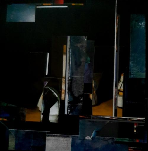 Marie Laure Colasson Notturno 1 collage 30x30 cm 2007