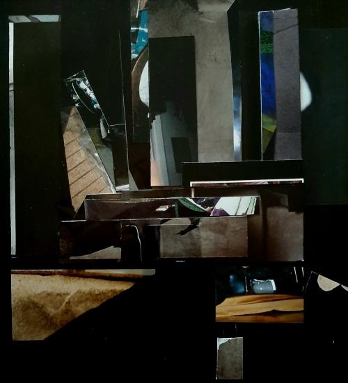 Marie Laure Colasson Notturno 4 collage 30x30 cm 2007