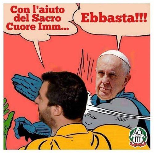 Salvini e Papa Bergoglio