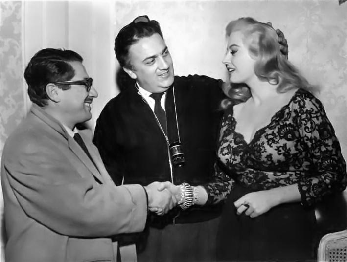 Ennio Flaiano_Federico Fellini_Anita Ekberg_1960