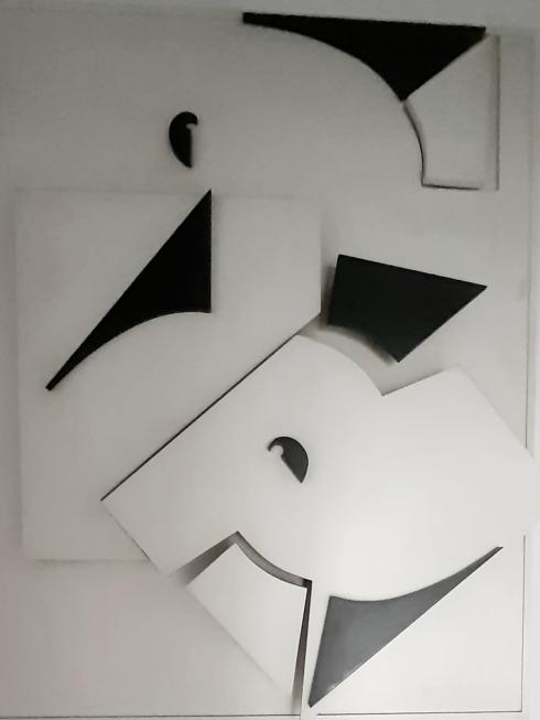 Marie Laure Colasson Pannello bidimensionale legno 1m 1 50m 1982